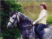 Petra Sherman of Cape Cod, Massachusetts on Spanish-Norman stallion SOLDADO H.H.F.